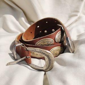 Vintage Silver Studded Belt